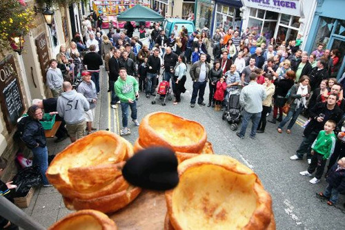 World Black Pudding Throwing Championships in Ramsbottom