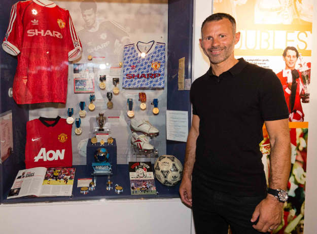 Manchester United Assistant Manager and Club legend Ryan Giggs officially opens a brand new, dedicated exhibition at the Manchester United Museum & Tour, Old Trafford.